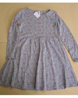 Šaty Palomino sivé so srdiečkami, veľ.128