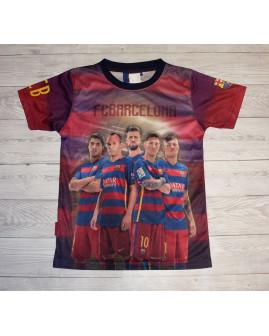 """Tričko bordové """"FC Barcelona"""", veľ.128/134"""