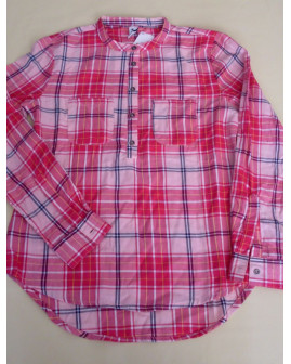 Košeľa Yigga ružová károvaná, veľ.134/140