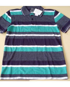 Tričko Yigga sivo-modro-zelené prúžkované, veľ.158/164