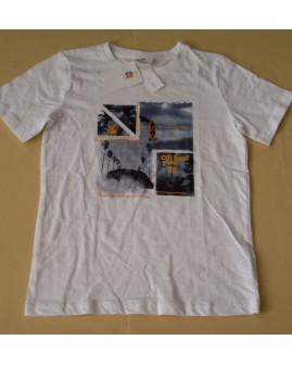 Tričko Topolino biele s potlačou, veľ.134
