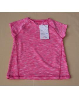 Tričko Topolino ružové melírované so srdiečkom, veľ.98