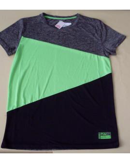 Tričko Yigga sivo-zeleno-čierne, veľ.158/164