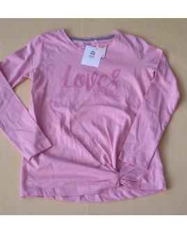 Tričko Yigga ružové s nápisom, veľ.134/140