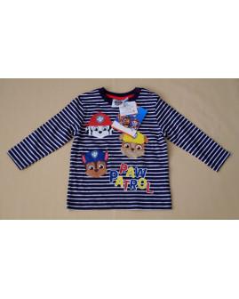 Tričko modré prúžkované s obrázkami, veľ.86