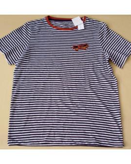 Tričko Yigga modré prúžkované s obrázkom, veľ.158/164