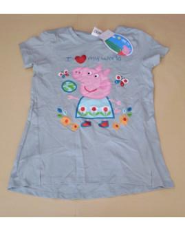 Tričko zelené s potlačou Peppa Pig, veľ.128