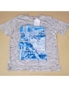 Tričko Yigga sivé melírované, veľ.134/140