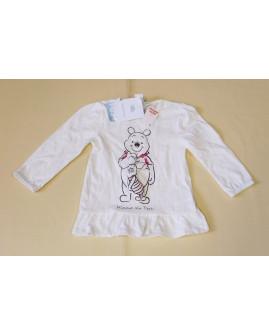 Tričko Disney biele s obrázkom macka Pú, veľ.86