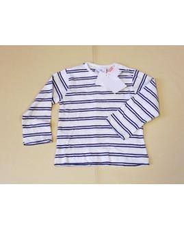 Tričko Topomini biele s modrými prúžkami, veľ.86