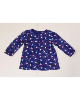 Tričko Topomini tmavomodré so vzorom, veľ.80