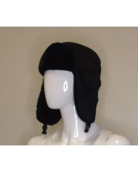 Detská kožušinová čiapka čierna