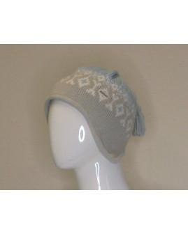 Dámska čapica Eisbär sivo-modrá