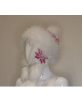 Dámska kožušinová čapica biela