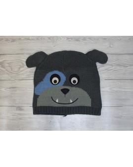 Detská čapica sivá s medvedíkom