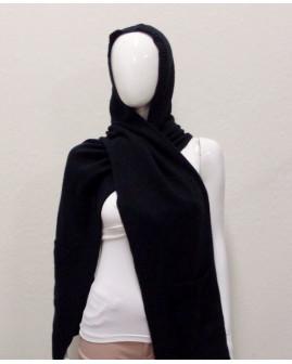 Šál s kapucňou Esprit čierny