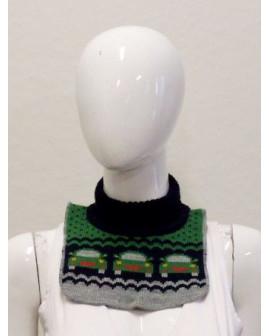 Detský nákrčník H&M zeleno-sivý so vzorom