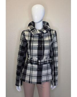 Kabát Gina Benotti čierno-biely károvaný, veľ.38
