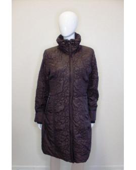 Kabát Gina Laura tmavohnedý prešívaný, veľ.S