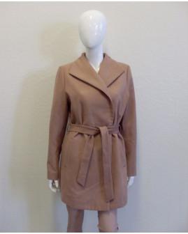 Kabát Blind Date béžový s opaskom, veľ.L
