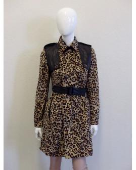 Kabát hnedý so zvieracím vzorom, veľ.M