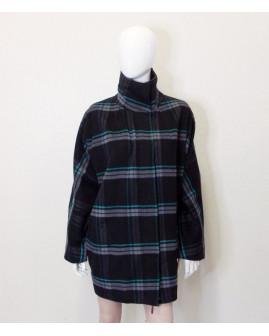 Kabát Mark Adam čierny s farebnými prúžkami, veľ.38