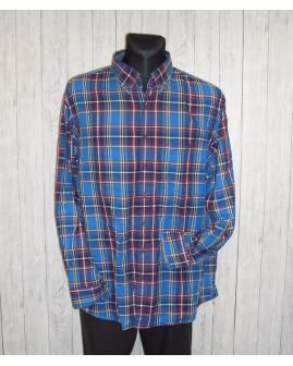 Košeľa Brax modro-bordová károvaná, veľ.46