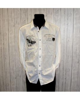 Košeľa biela s nápismi, veľ.XL