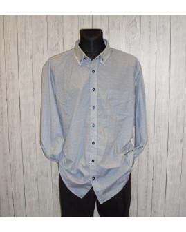 Košeľa Canda svetlomodrá s jemným vzorom, veľ.4XL