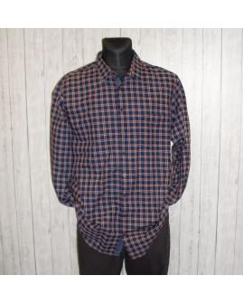 Košeľa Olymp modro-bordová károvaná, veľ.XXL