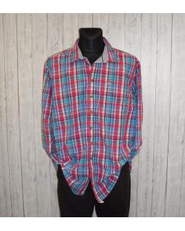 Košeľa Paul Smith ružovo-modrá károvaná, veľ.XXL