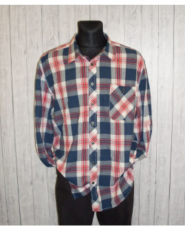 Košeľa Arizona modro-bielo-červená károvaná, veľ.XXL