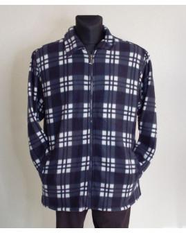 Košeľa flanelová modro-biela károvaná, zvnútra zateplená, veľ.L