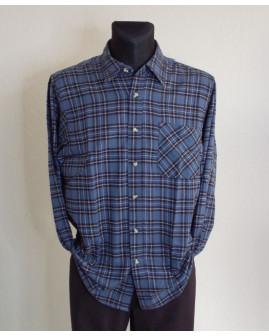 Košeľa flanelová Toptex modrá károvaná, veľ.XL