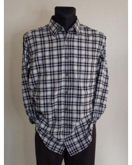 Košeľa flanelová Casa Moda čierno-sivá károvaná, veľ.XL
