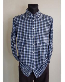 Košeľa flanelová Casa Moda modro-biela károvaná, veľ.43/44