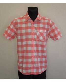 Košeľa s´Oliver ružovo-biela károvaná, veľ.M