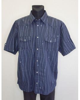 Košeľa Tom Tailor tmavomodrá so vzorom, veľ.XXL