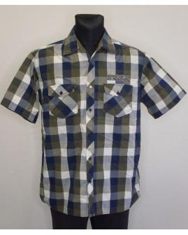 Košeľa Jim Spencer hnedo-modrá károvaná, veľ.L