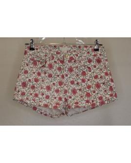 Šortky H&M rifľové biele s kvetmi, veľ.34