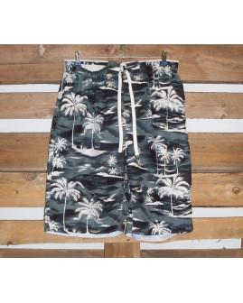 Šortky plavkové sivé s palmami, veľ.XL