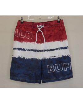 Šortky Buffalo plavkové červeno-bielo-modré s nápisom, veľ.M