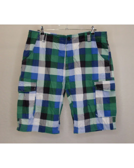 Šortky Van Vaan modro-zelené kárované, veľ.XL