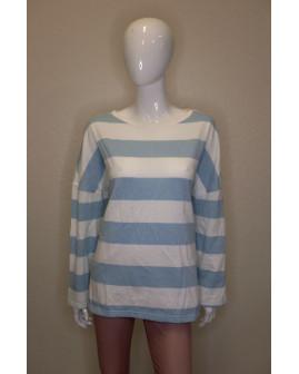 Mikina Peckott bielo-modrá pruhovaná, veľ.XL