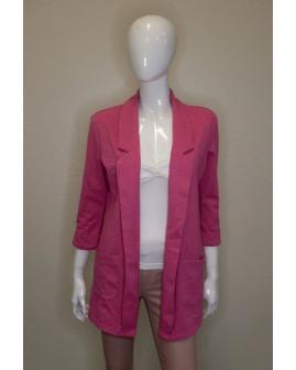 Mikinové sako Up Fashion ružové, veľ.S