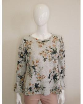 Mikina Promod sivá s kvetmi, veľ.L/XL