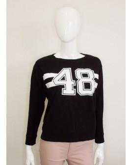 Mikina H&M čierna s potlačou, veľ.XS