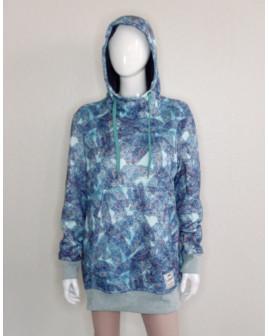 Mikina Decathlon modrá vzorovaná, veľ.XL