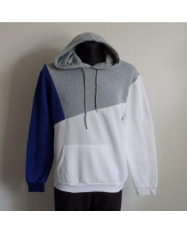 Mikina bielo-sivo-modrá, veľ.XXL