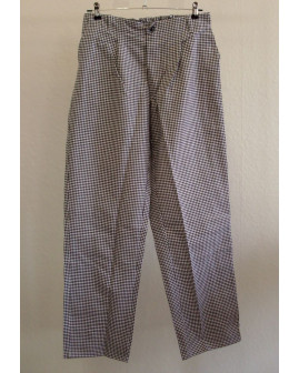 Pracovné nohavice sivé kárované, veľ.50